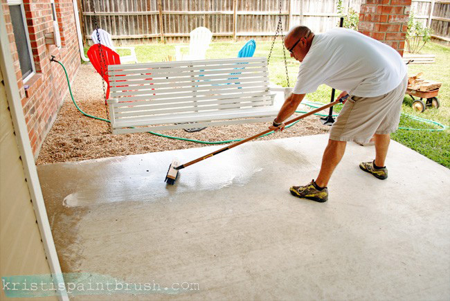 Etching a Patio