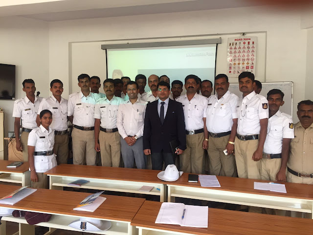 Columbia Asia Referral Hospital, Yeshwanthpur conducted a basic life support training program for new traffic police recruits in Bangalore