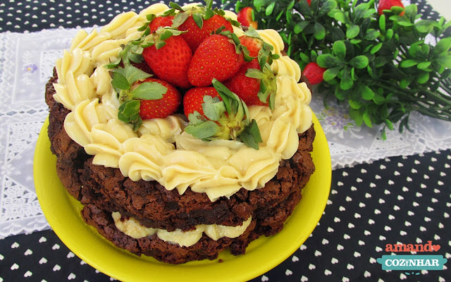Naked Cake de Brownie