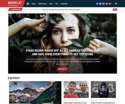 MogFlat Premium Template For Blogger