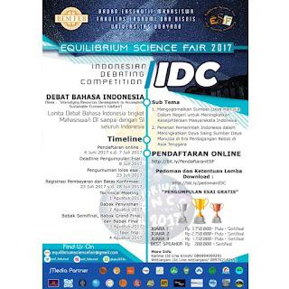 Lomba Debat Bahasa Indonesia Nasional 2017 di Universitas Udayana