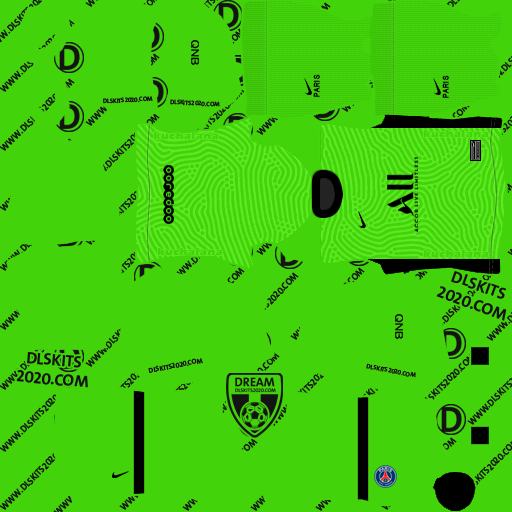 Paris Saint-Germain kits 2020-2021 Nike - Kits Dream League Soccer 2020 (Away Goalkeeper)