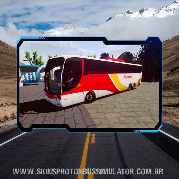 Skin Proton Bus Simulator Road - G6 1200 Scania K124 Viação Regional