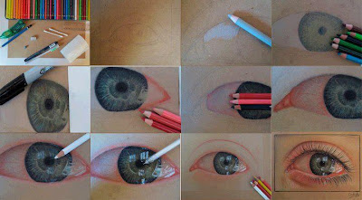 eyes colored pencil art