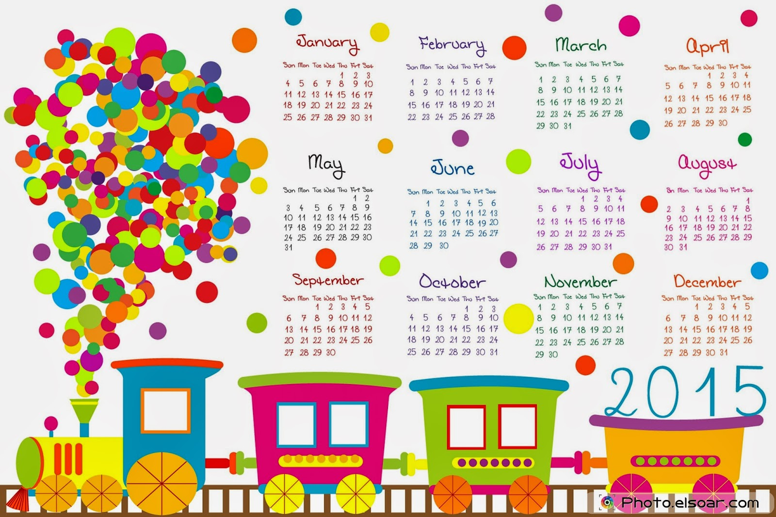 2015 Calendar Ready to Print | Png Vectors, Photos | Free Download