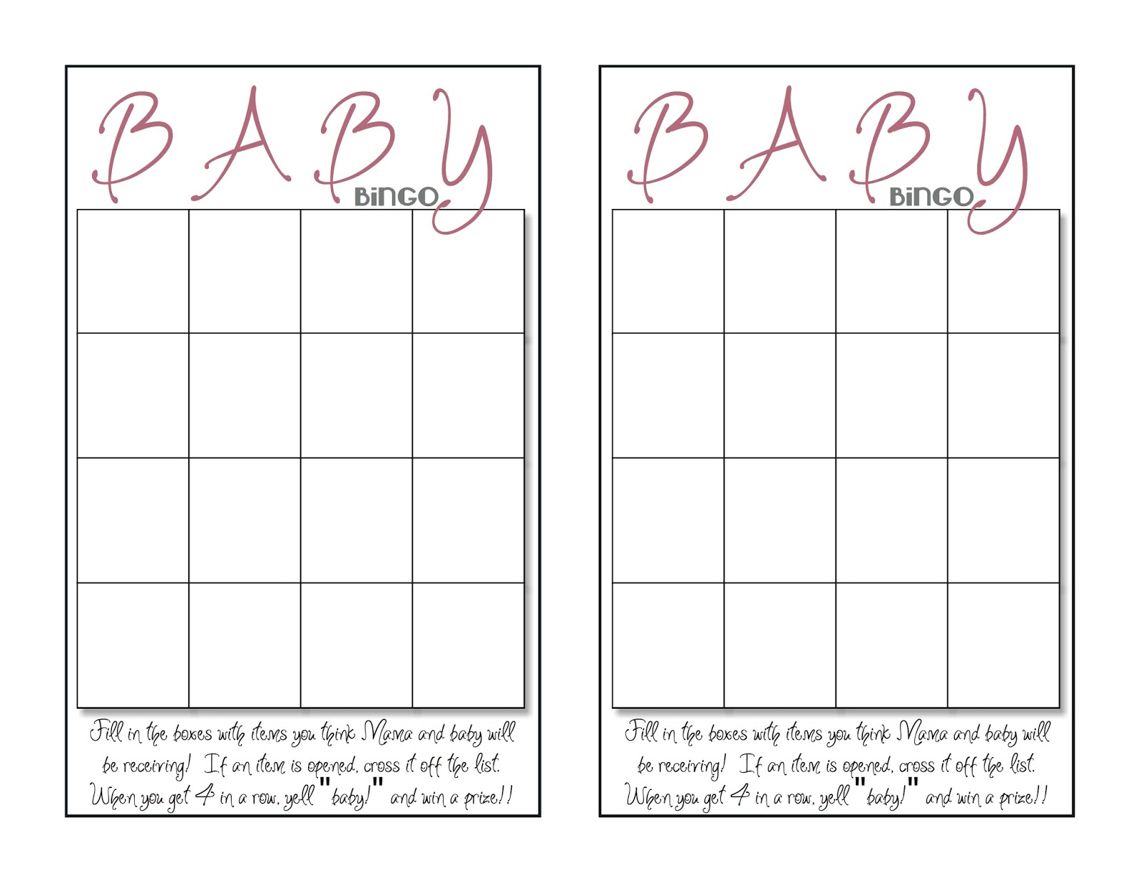 what 5 teach me baby shower bingo