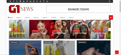 Templates para Blogger G1 News