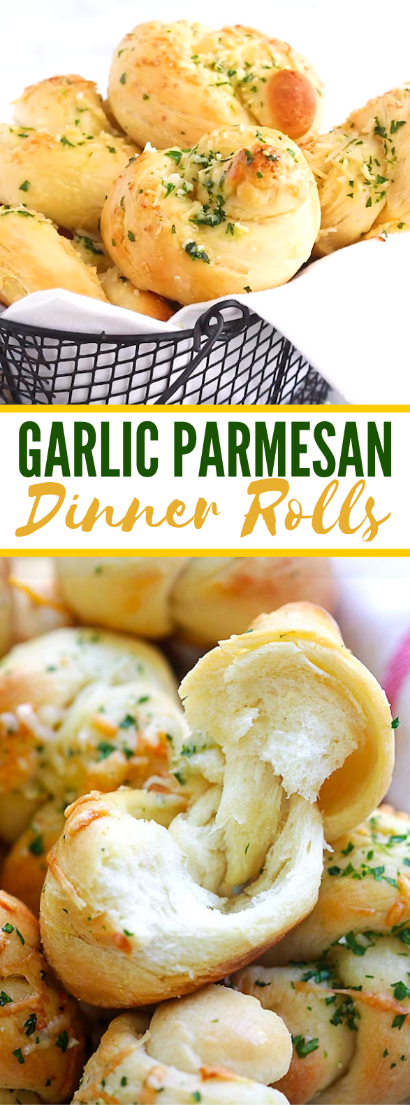 Garlic Parmesan Dinner Rolls #dough #dinnerrecipe