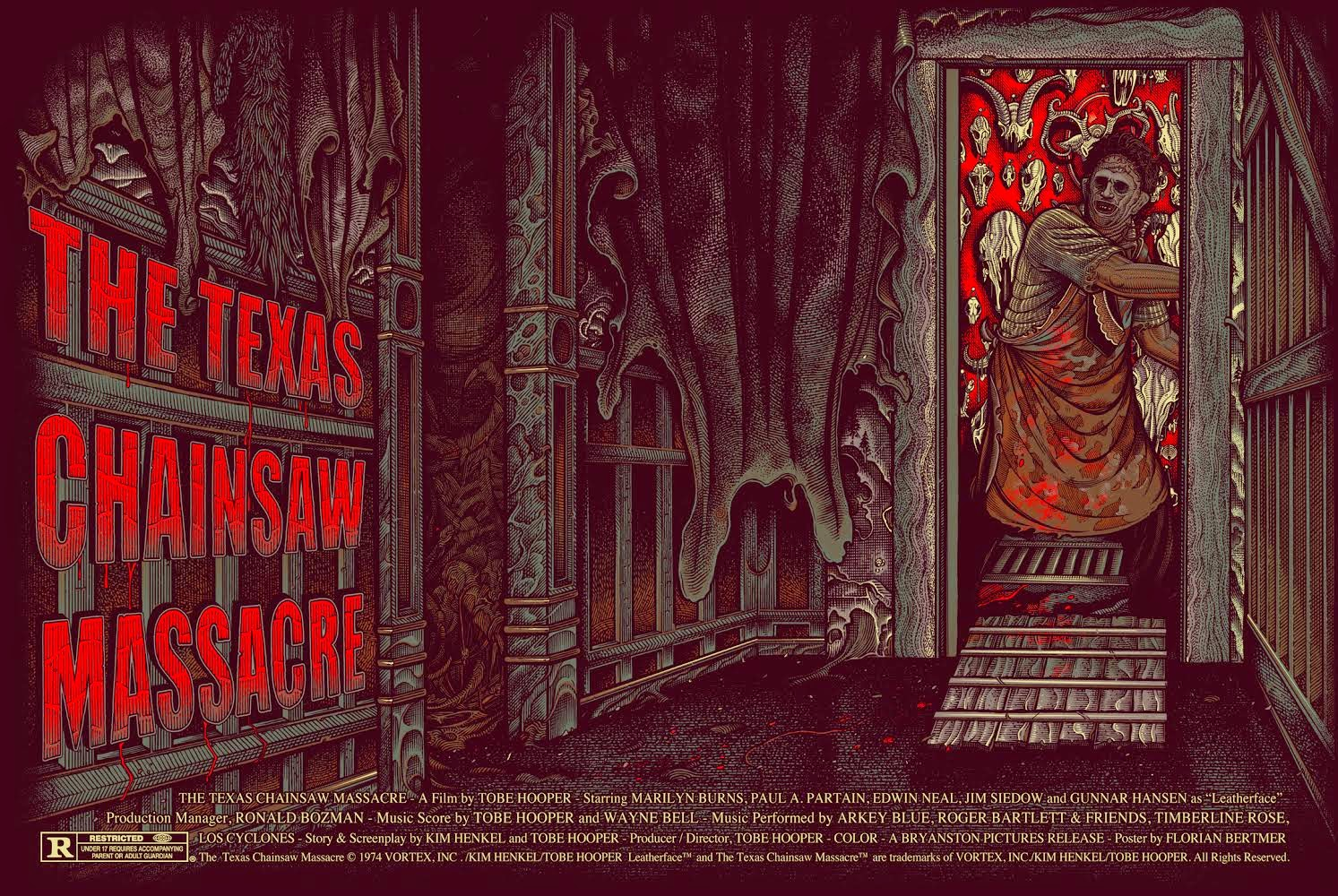 The Texas Chainsaw Massacre Variant Screen Print by Florian Bertmer