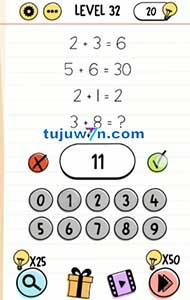 2+3=6 5+6=30 2+1=2 3+8=? brain test