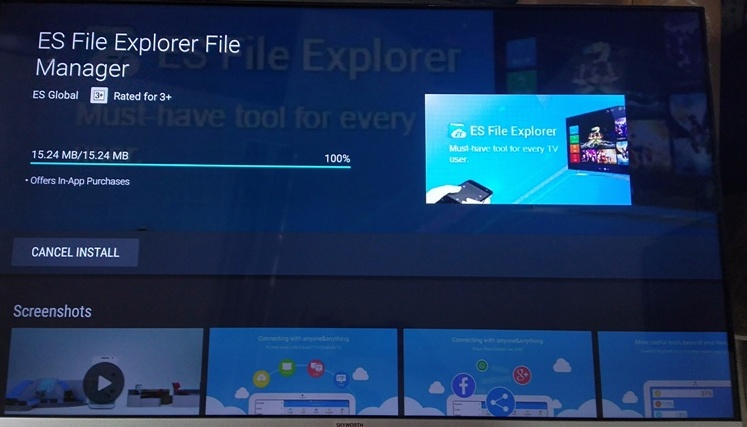 ES File Explorer File Manager Installation