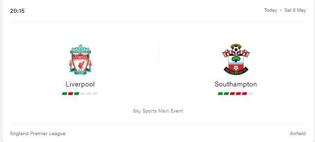 Liverpool vs Southampton Livestream, Preview and Prediction 2021