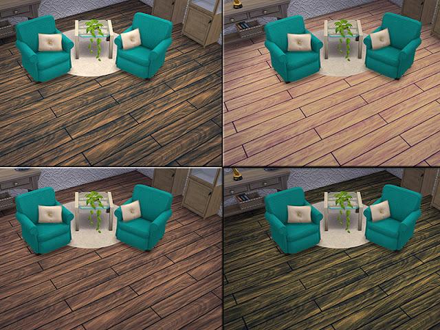 Деревянные половые покрытия для The Sims 4 со ссылками на скачивание