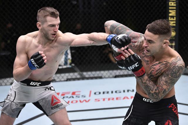 Dustin Poirier Blocks Dan Hooker UFC On ESPN 12