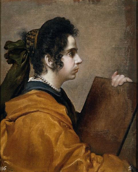 Диего Веласкес - Портрет Хуаны Пачеко, жены художника, в образе Сивиллы (ок.1631)