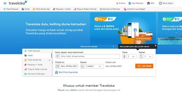pesan hotel di situs travel murah traveloka