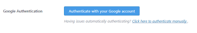 Google Authentication