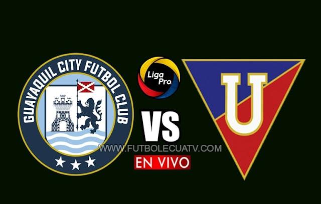 Guayaquil City recibe a Liga de Quito en vivo desde las 20h00 hora local, continuando la jornada nueve del campeonato ecuatoriano, con emisión de GolTV Ecuador a efectuarse en el estadio Christian Benítez. Siendo el juez principal Carlos Orbe.
