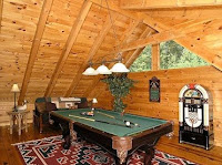 Pool tables and more at Smoky Mountain Lodging