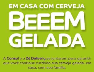 Cadastrar Promoção Bem Gelada Consul 2021 Ganhe R$ 150 Usar Zé Delivery