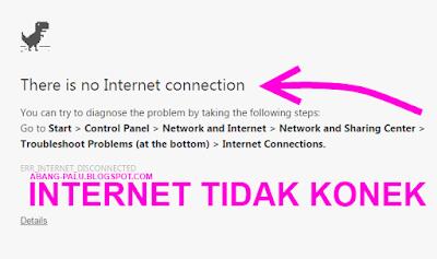 laptop tidak konek internet setelah instal ulang
