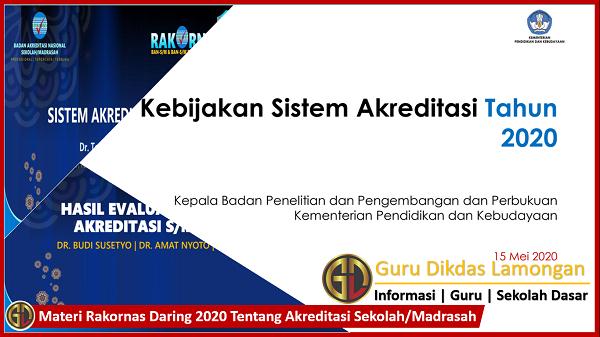 Materi Rakornas Daring 2020 Tentang Akreditasi Sekolah/Madrasah