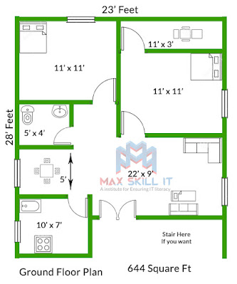 2bhk house plan design