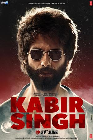 Poster Of Hindi Movie Kabir Singh 2019 Full HD Movie Free Download 720P Watch Online