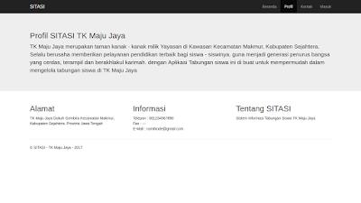 Halaman Profil dari Sistem Informasi Tabungan Siswa berbasis web dengan menggunakan framework codeigniter