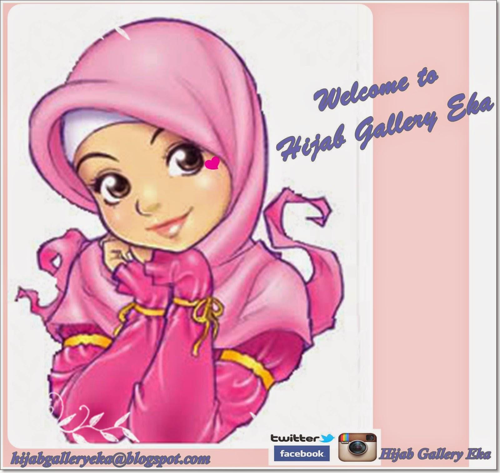 Gambar Kartun Muslimah Berjilbab Syar i Kolek Gambar