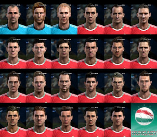 PES 2013 Facepack Hungary By Bradpit62