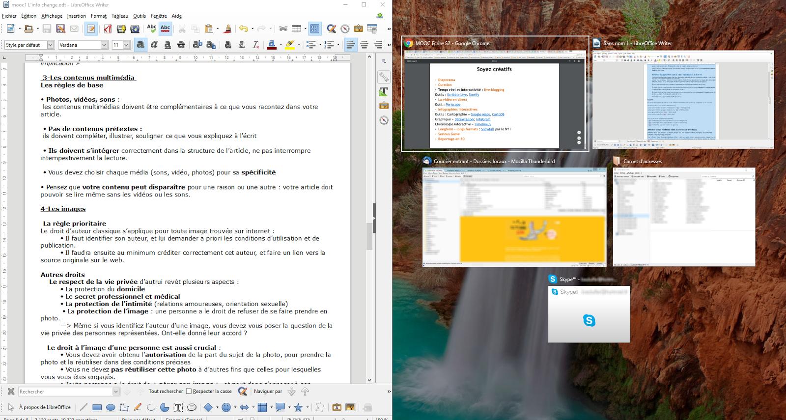 Uia bayeux informatique et internet mieux g rer les for Fenetre windows outils