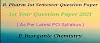 DIPSAR - P. INORGANIC CHEMISTRY QUESTION PAPER B.PHARM 2021   1ST SEMESTER