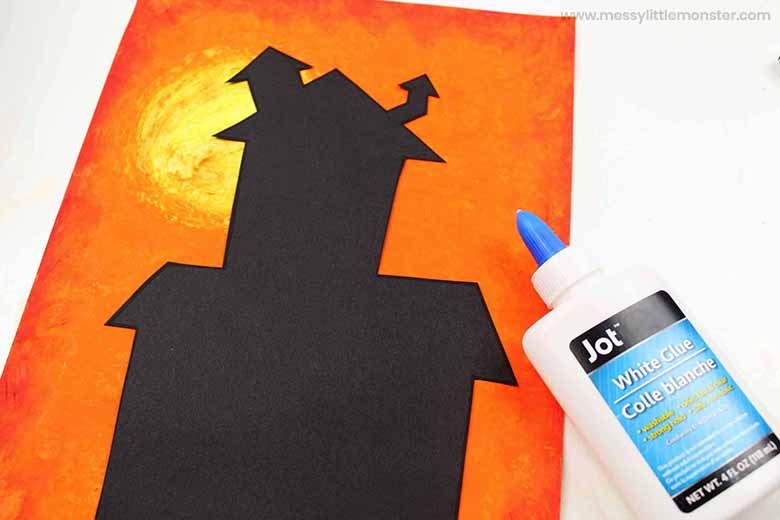 oil pastel art halloween craft