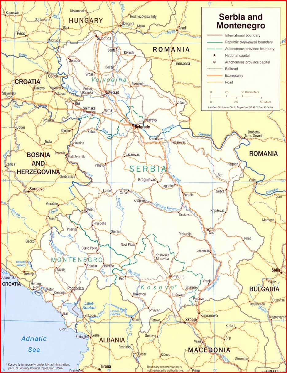 image: Serbia Political Map