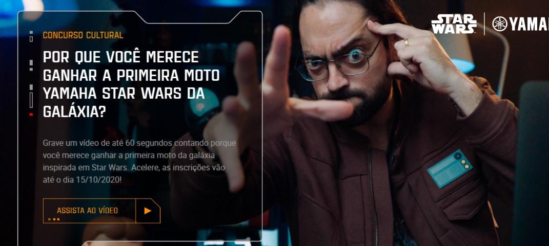 YAMAHA Concorra Primeira Moto STAR WARS da Galáxia - Faça Inscrição e Envie Vídeo