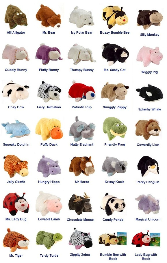 My Top Collection: Pillow pet pictures