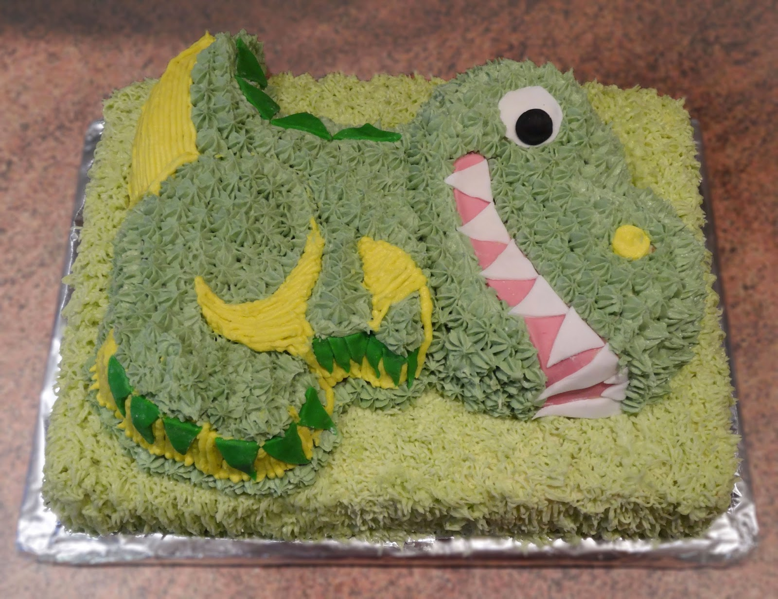 Buttercream Dinosaur Birthday Cake