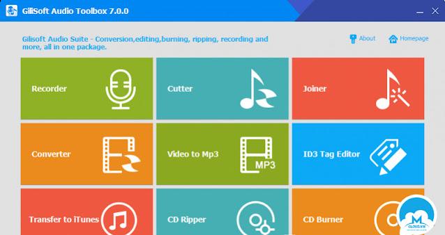 GiliSoft Audio Toolbox Suite 2020 v8.0 + Key - Bộ 9 công cụ xử lý âm thanh