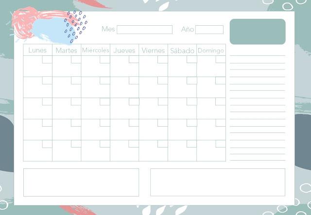 calendario, gratis, descargar, imprimir, a4, pdf, horizontal
