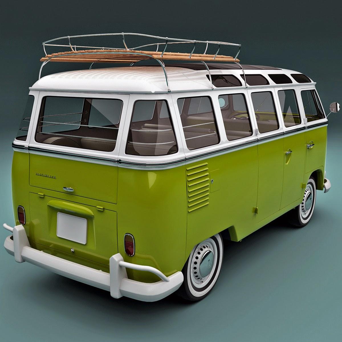 3d volkswagen bulli t1 type2 3d models for professionals. Black Bedroom Furniture Sets. Home Design Ideas