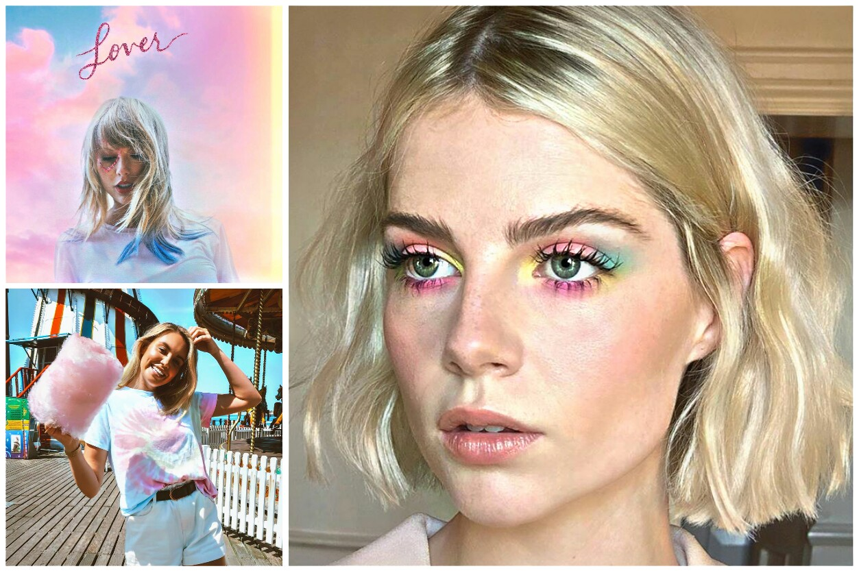 "Fantasy color trend - Lucy Boynton and Taylor Swift album ""Lover"""
