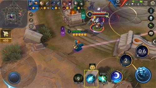 Khu vực vòng tròn trung tâm giúp các đội chơi thu về được nhiều vàng hơn, vì vậy cũng là một khu vực giao tranh ác liệt nhất