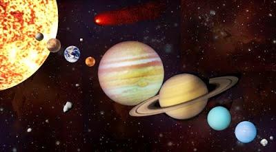Imagen del Sistema Planetario Solar sin nombres