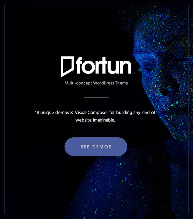 Fortun Multi Concept WordPress Theme