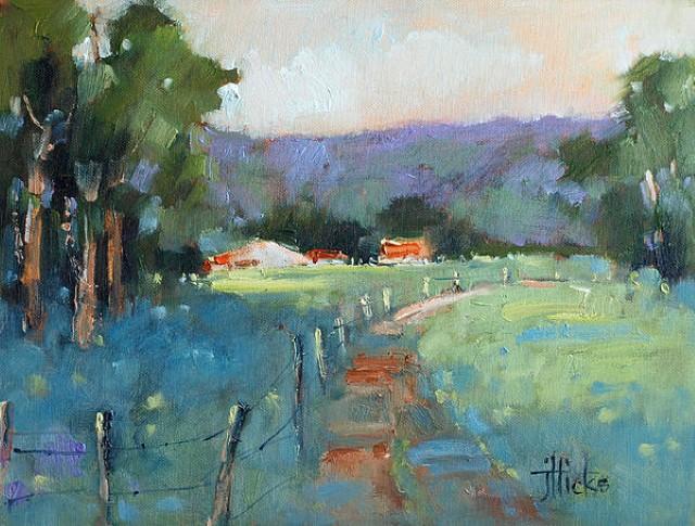 Рисунки акварелью и маслом. Joyce Hicks 19