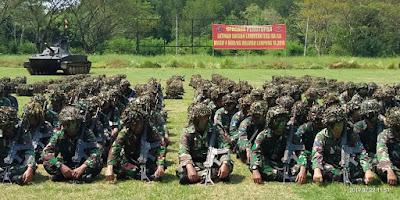 700 Prajurit Petarung Harimau Sumatera Brigif 4 Marinir/BS Selesaikan Latihan Satuan Lanjutan I