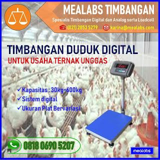 Timbangan Duduk Digital untuk Ternak Unggas