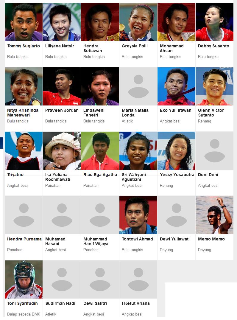 Daftar Atlet Indonesia di Olimpiade Rio 2016