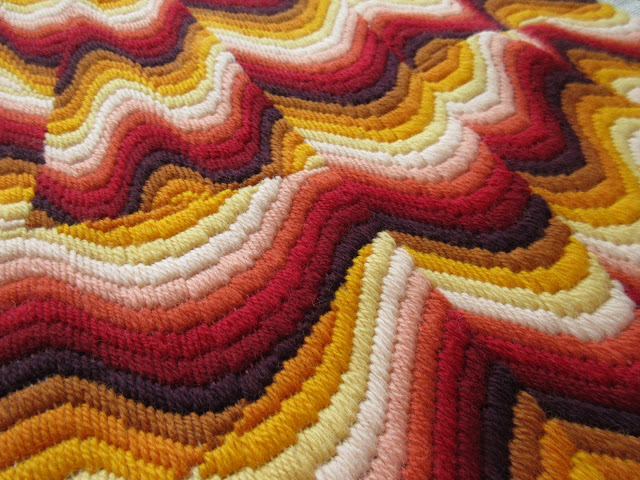 Tina's Allsorts, Bargello Flame cushion panel